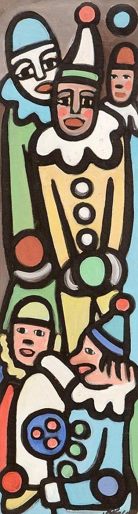 Markey Robinson (1918-1999), Circus Glowns at Morgan O'Driscoll Art Auctions
