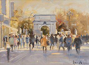 Ann Flynn (20th/21st Century), Towards St. Stephen's Green, Dublin at Morgan O'Driscoll Art Auctions