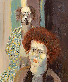 George Campbell RHA RUA (1917-1979), Two Clowns at Morgan O'Driscoll Art Auctions
