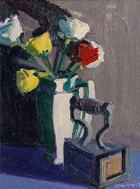 Brian Ballard RUA (b.1943), Still Life, Vase of Flowers and Iron at Morgan O'Driscoll Art Auctions