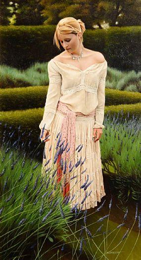 John Waterhouse (b.1967) British, Lavender Picker at Morgan O'Driscoll Art Auctions