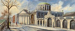 Maureen Curtin (20th/21st Century), The Four Courts, Dublin at Morgan O'Driscoll Art Auctions