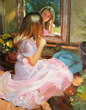 Vladimir Volegov (20th/21st Century) Russian, In The Mirror at Morgan O'Driscoll Art Auctions