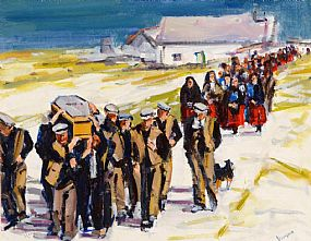Michael Hanrahan (20th/21st Century), Funeral Procession at Morgan O'Driscoll Art Auctions