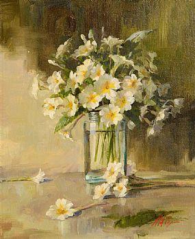 Mat Grogan (20th/21st Century), Still Life, Vase of Flowers at Morgan O'Driscoll Art Auctions