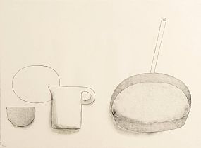William Scott OBE RA (1913-1989), Frying Pan, Jug and Bowls at Morgan O'Driscoll Art Auctions