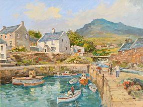 Colin Gibson (b.1948), Annalong Harbour at Morgan O'Driscoll Art Auctions
