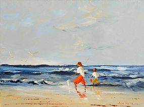 Thelma Mansfield (20th/21st Century), Fishing by the Shore at Morgan O'Driscoll Art Auctions