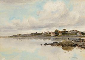Harry Jones Thaddeus (1860-1929) RHA, Seaweed Gathering, West of Ireland at Morgan O'Driscoll Art Auctions