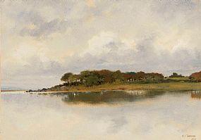 Harry Jones Thaddeus (1860-1929) RHA, West of Ireland, Lake Scene at Morgan O'Driscoll Art Auctions