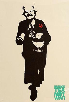 Bambi (20th/21st Century) British, Make Tea Not War at Morgan O'Driscoll Art Auctions