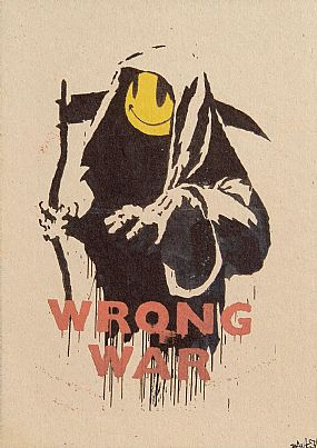 Banksy (20th/21st Century) British, Wrong War (from Pax Brittanica: A Hellish Place) at Morgan O'Driscoll Art Auctions