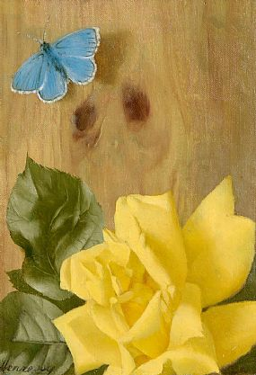 Patrick Hennessey RHA (1915-1980), Rose and Butterfly at Morgan O'Driscoll Art Auctions