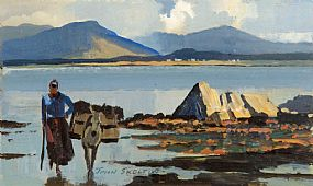 John Skelton Snr (1923-2009), Gathering the Seaweed at Morgan O'Driscoll Art Auctions