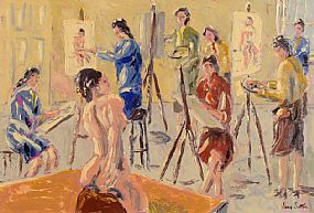 Ivan Sutton (b.1944), The Life Class, Dublin at Morgan O'Driscoll Art Auctions