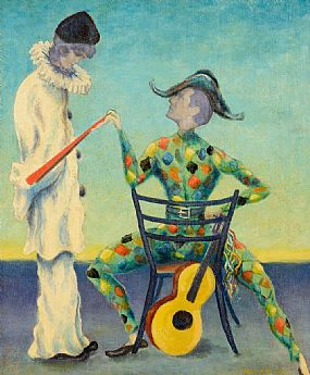 Gerard Dillon RHA RUA (1916-1971), Hiding in Masks at Morgan O'Driscoll Art Auctions