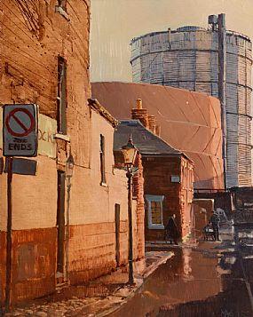 Cecil Maguire RHA RUA (b.1930), After the Rain, Riley's Place Belfast at Morgan O'Driscoll Art Auctions