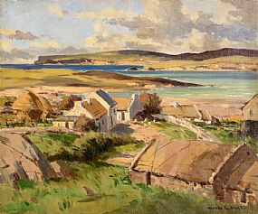 Maurice Canning Wilks ARHA RUA (1911-1984), Bloody Foreland Cottages, Donegal at Morgan O'Driscoll Art Auctions