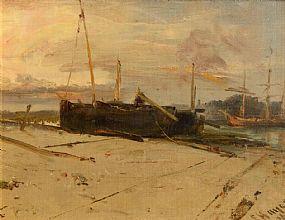 Edwin Hayes RHA RI (1820-1904), Harbour Scene at Morgan O'Driscoll Art Auctions