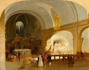 James Mahoney ARHA (1810-1879), The Church of St Roch, Paris at Morgan O'Driscoll Art Auctions