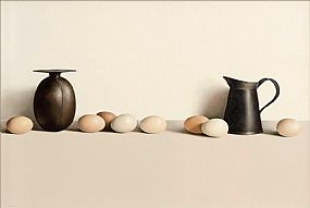 Liam Belton RHA (b.1947), Two Vessels and Eight Eggs at Morgan O'Driscoll Art Auctions