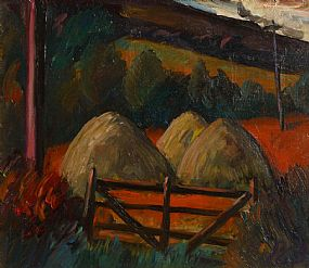 Peter Collis RHA (1929-2012), Farm Gate at Morgan O'Driscoll Art Auctions