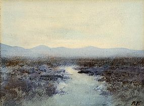 Percy French (1854-1920), Bog Landscape, Co. Mayo at Morgan O'Driscoll Art Auctions