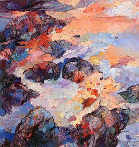 Maurice Henderson (b.1941), Sea and Rocks at Morgan O'Driscoll Art Auctions