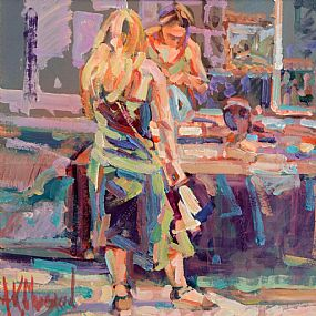 Arthur K. Maderson (b.1942), Early Evening, The Night Market at Morgan O'Driscoll Art Auctions