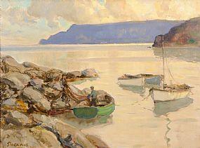 James Humbert Craig RHA RUA (1878-1944), Mending the Nets Cushendun at Morgan O'Driscoll Art Auctions