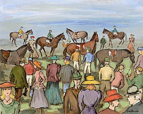 Gladys MacCabe ROI FRSA MA HRUA (1918-2018), At The Races at Morgan O'Driscoll Art Auctions
