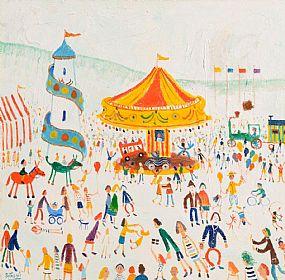 Simeon Stafford (b.1956) British, At the Funfair at Morgan O'Driscoll Art Auctions