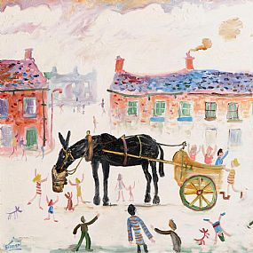 Simeon Stafford (b.1956) British, Pony and Cart at Morgan O'Driscoll Art Auctions