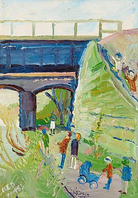 Fred Yeats (b.1922) British, Le Viadue, Houte Vienne at Morgan O'Driscoll Art Auctions
