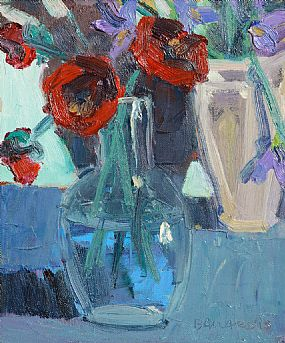 Brian Ballard RUA (b.1943), Poppies and Irises at Morgan O'Driscoll Art Auctions