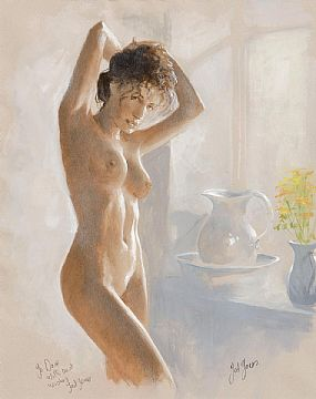 Ted Jones (b.1952), Female Nude at Morgan O'Driscoll Art Auctions