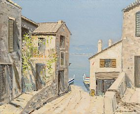 George Gillespie RUA (1924-1996), Path to the Shore, Lake Garda at Morgan O'Driscoll Art Auctions