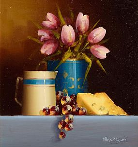 David Ffrench Le Roy (b.1971), Still Life With Tulips at Morgan O'Driscoll Art Auctions