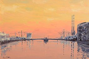 Ivan Sutton (b.1944), Dawn Over River Liffey, Dublin at Morgan O'Driscoll Art Auctions