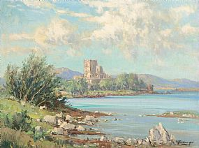 Rowland Hill ARUA (1915-1979), Doe Castle, Mulroy Bay, Co. Donegal at Morgan O'Driscoll Art Auctions