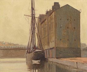 Gerald J. Bruen (1908-2004), Moored at the Grain Store at Morgan O'Driscoll Art Auctions