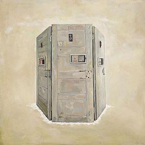 Rita Duffy RUA (b.1959), Veil- Prison Doors from Armagh Women's Prison at Morgan O'Driscoll Art Auctions
