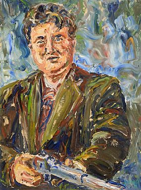 Liam O'Neill (b.1954), Brendan Behan at Morgan O'Driscoll Art Auctions