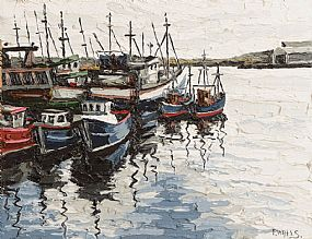 Paul Walls (b.1965), Harbour Killybegs Reprise I at Morgan O'Driscoll Art Auctions