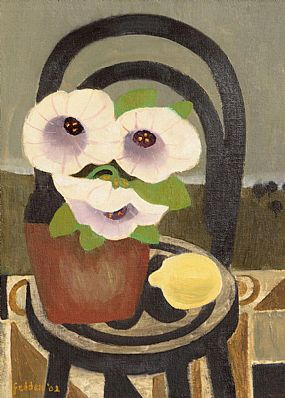 Mary Fedden RA (1915-2012) British, Still Life of Flowers and Lemon (2002) at Morgan O'Driscoll Art Auctions