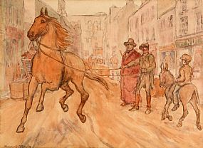 Jack Butler Yeats RHA (1871-1957), The Young One 1891 at Morgan O'Driscoll Art Auctions