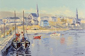 Ivan Sutton (b.1944), Clifden Harbour, Co. Galway at Morgan O'Driscoll Art Auctions