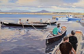Cecil Maguire RHA RUA (b.1930), Before the Curragh Race, Roundstone June '90 at Morgan O'Driscoll Art Auctions