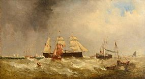 William Adolphus Knell (1805-1875) Scottish, Choppy Seas at Morgan O'Driscoll Art Auctions