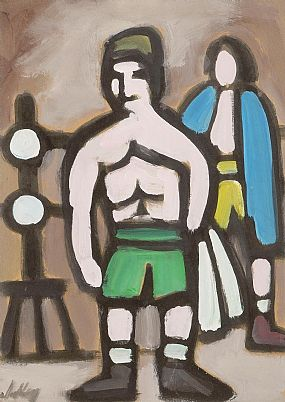 Markey Robinson (1918-1999), Markey's Recollection of His Boxing Days circa 1940 at Morgan O'Driscoll Art Auctions